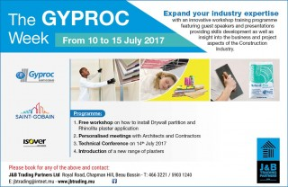 The Gyproc week 10-15 July completed - image